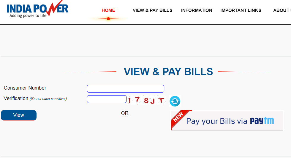 IndiaPower Online Bill Payment