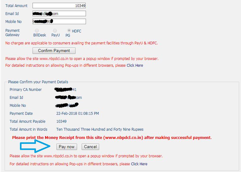 NBPDCL Bijli Bill Payment Online